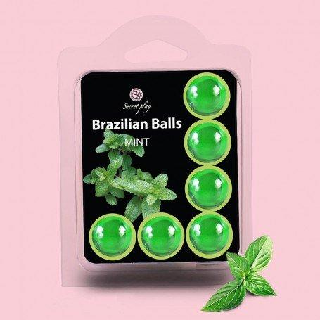 BOLAS LUBRICANTES BESABLES BRAZILIAN BALLS SABOR A MENTA 6 x 4GR