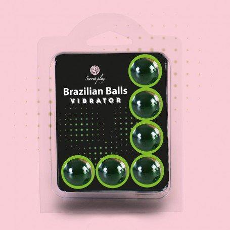 BOLAS LUBRICANTES BRAZILIAN BALLS SHOCK EFECTO VIBRADOR 6 x 4GR